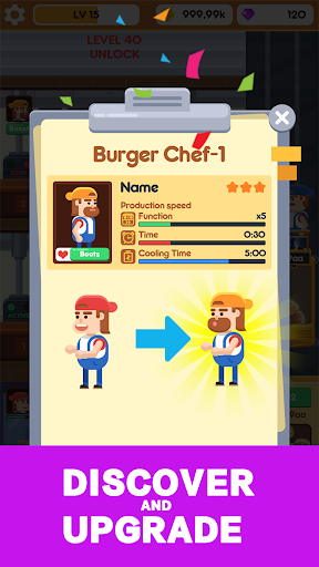 Idle Burger Factory - Tycoon Empire Game 1.0.8 screenshots 1