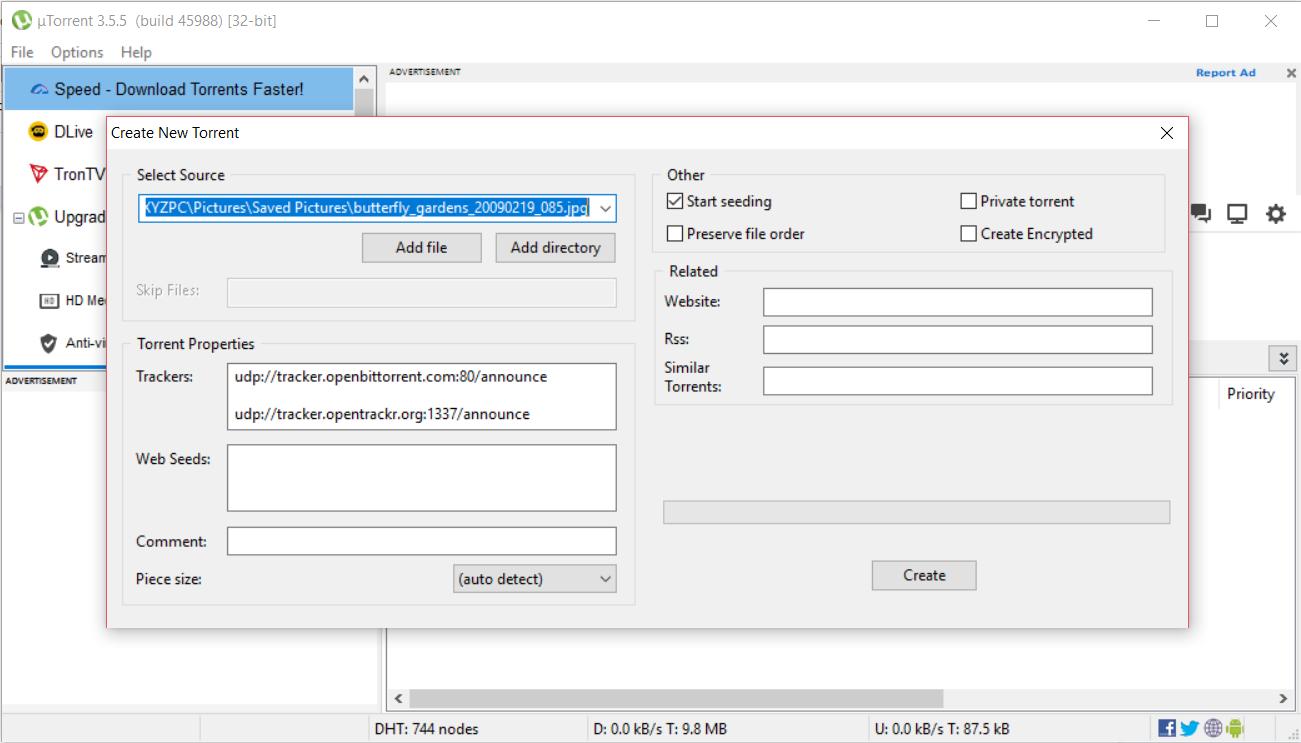 μTorrent, or uTorrent is a proprietary adware BitTorrent client owned and developed by BitTorrent, Inc