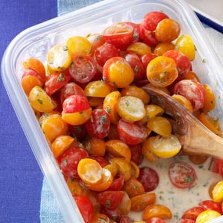 Tomatoes with Buttermilk Vinaigrette Recipe