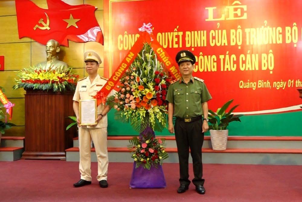 Đại tá Trần Hải Quân nhận quyết định bổ nhiệm Giám đốc Công an Quảng Bình