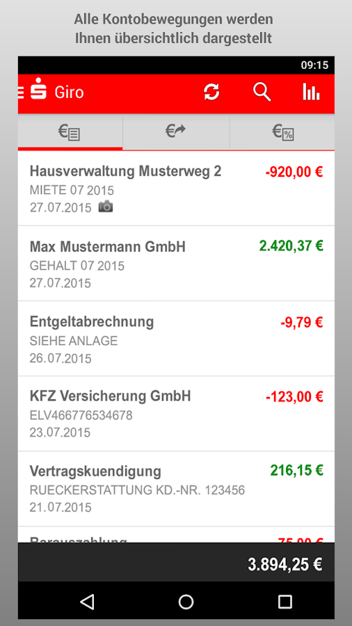 Sparkasse+- screenshot