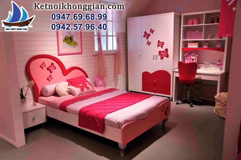 thiết kế phòng bé gái phong cách nhẹ nhàng