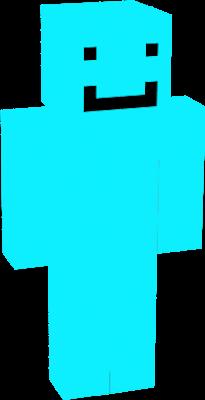 A standard blue skin