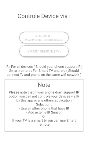 Universal remote control for Tv & AC, DVD, STB App Report on Mobile