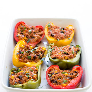 Healthy Turkey and Quinoa Mexican Stuffed Peppers Recipe