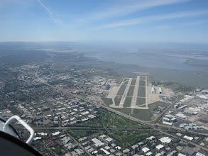 Photo: Approaching Moffett Field, home of NASA Ames