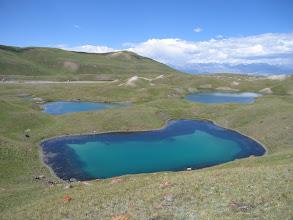 Photo: Lakes near Lenin Peak