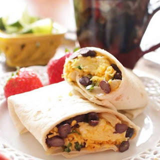 Make Ahead Huevos Rancheros Breakfast Burritos