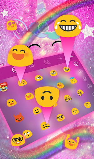Download Pink Unicorn Keyboard Theme MOD APK 4