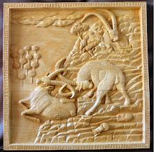 Photo: Tamaño: 53 x 52 cm. || Talla en madera. Woodcarving.   Puedes conocer más de este artista en el blog: http://tallaenmadera-woodcarving-esculturas.blogspot.com/
