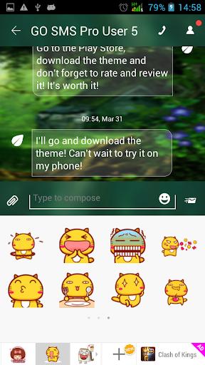 無料个人化AppのGO SMS Proの森|記事Game