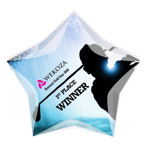 Heptagonal Shaped Acrylic Award