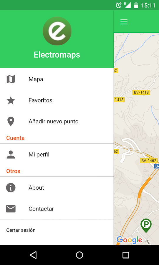 Electromaps- screenshot