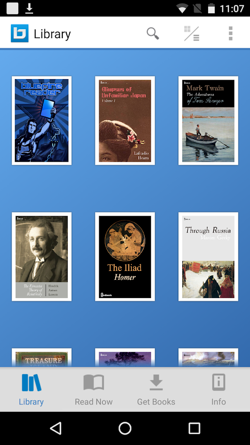 Bluefire Reader – Screenshot