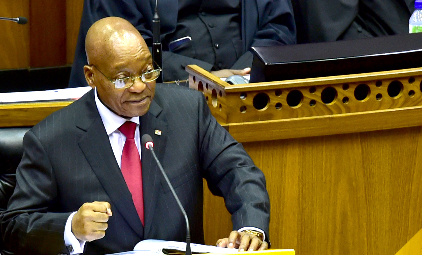 President Jacob Zuma delivers his state of the nation address. Picture: GCIS
