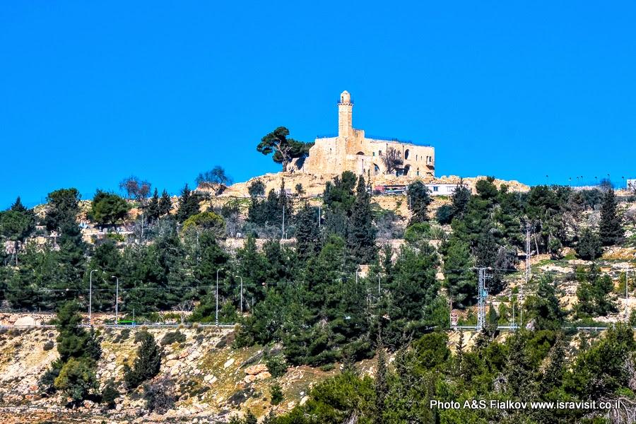 Наби Самуэль, Гробница пророка Самуила или Шмуэля на горе Счастья. Пригород Иерусалима.  Экскурсия в Израиле.