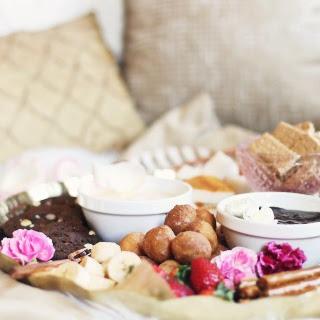 Date Night Dessert Fondue Platter for Two.