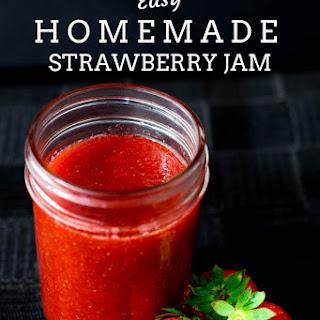Easy Homemade Strawberry Jam.