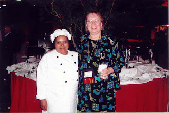 Photo: Here I am, posing with the lady chef in charge of the buffet dinner.