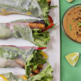 Marinated Spicy Tofu Spring Rolls May 31, 2016.