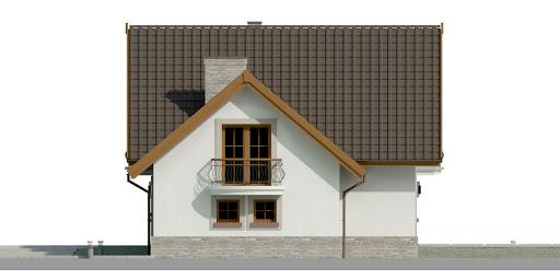 Dom przy Cyprysowej 15 P - Elewacja prawa