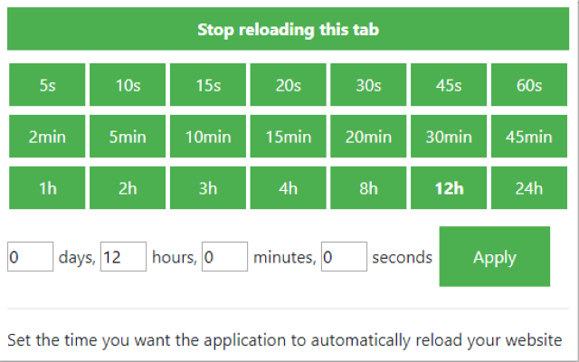 Reload Tabs for Google Chrome™