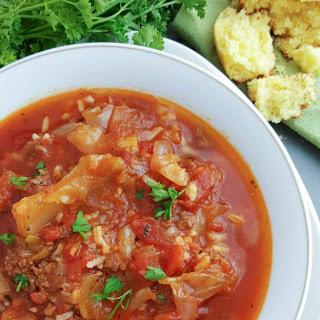 Crockpot Cabbage Roll Soup.