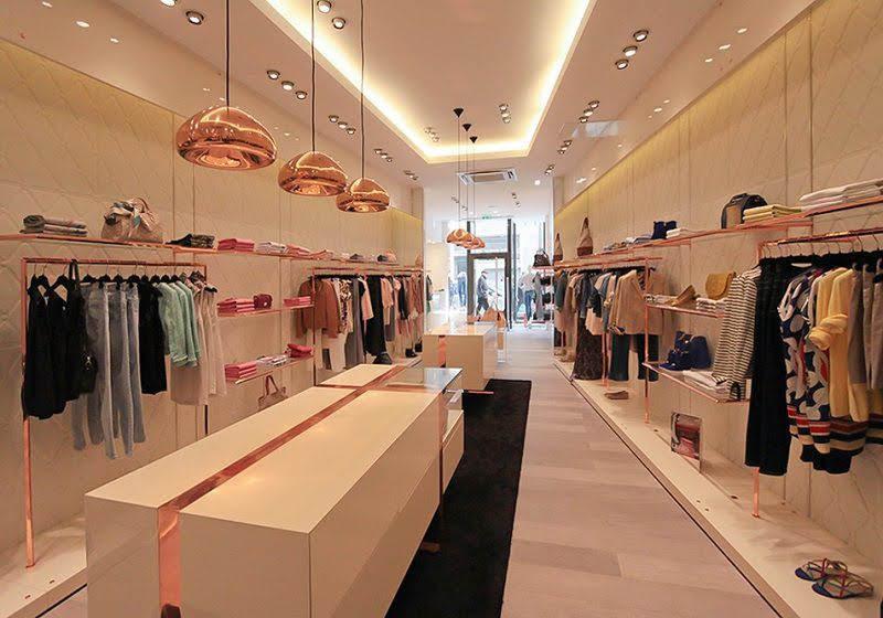 mẫu thiết kế shop quần áo thời trang đẹp