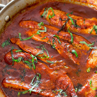 Turkey Breast in Fire Roasted Tomato and Basil Sauce.