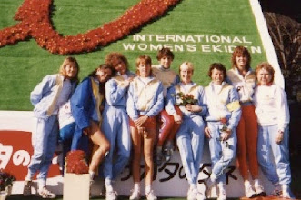 Photo: International Women's Ekiden, Yokahama, Japan 1986 USA Team