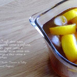 Coffee, Rum, and Lemon Drink