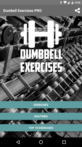 Dumbbell Exercises Pro screenshot 1