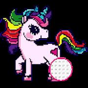 Unicorn Pony Color By Number - Unicorn Pixel Art