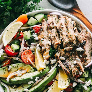 Steak Salad with Dijon Balsamic Dressing.
