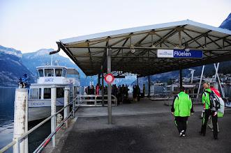 Photo: Start beim Flüeler Hafen um 07.00 h