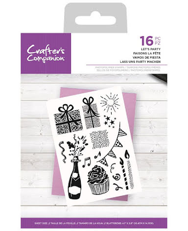 Crafters Companion Photopolymer Stamp Set - Let´s Party