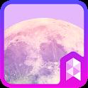 Dreamlike moon Launcher theme icon
