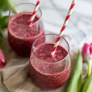 Red Velvet Green Smoothie with Beets
