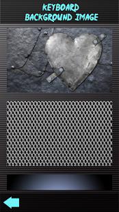 Stříbrné kovové klávesnice - náhled
