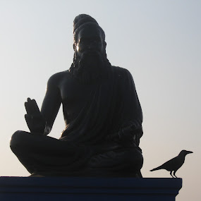 Thiruvalluvar Statue by Aarthi Siva - Buildings & Architecture Statues & Monuments ( building, statue, nature, sunset )