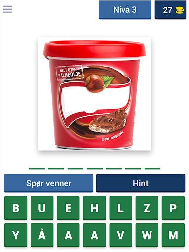 Norsk Mat Quiz: Gjett Kjente Matvarer fra Butikken apktram screenshots 9