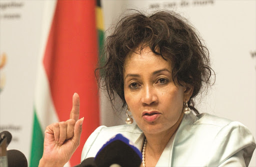 Human settlements, water & sanitation minister Lindiwe Sisulu. File photo.