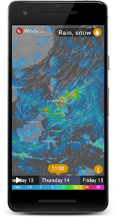 Rain Radar - Animated Weather Forecast Windy Maps screenshot for Android