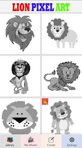 Lion Pixel Art-Animal Coloring By Number 7.0 screenshots 8