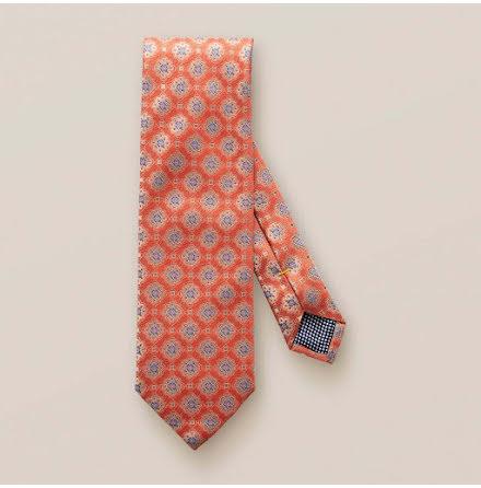 ETON Jazz orange medallion square tie