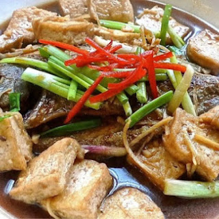 Braised Black Pomfret with Tofu