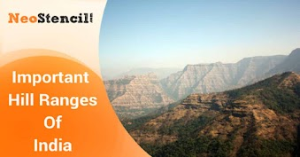 Important Hill Ranges of India