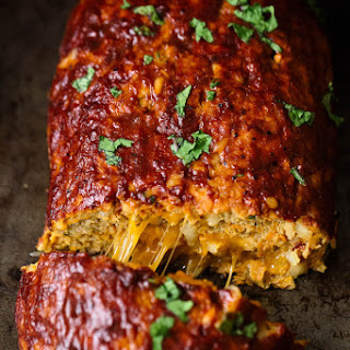 Cheddar-Stuffed Sweet Potato BBQ Turkey Meatloaf