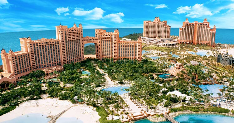 Gambling paradise Atlantis at Paradise Island in the Bahamas.
