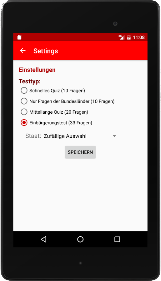 Einbürgerungstest DE 2017 – Screenshot